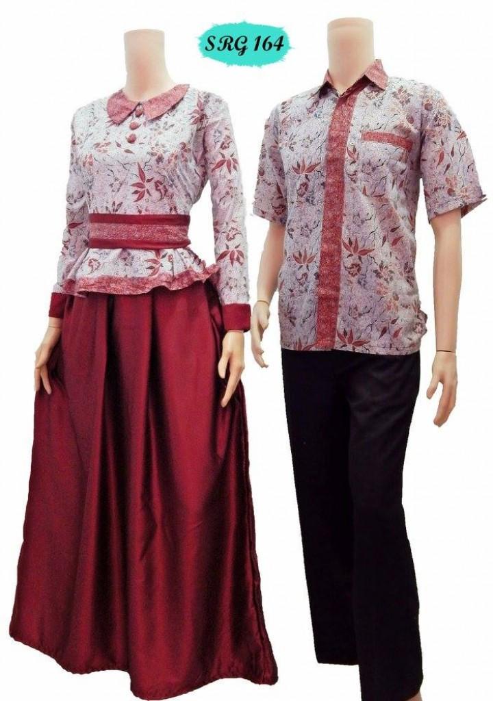 Jual baju batik sarimbit gamis murah onixcreative Jual baju gamis couple 2015